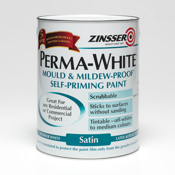 Zinsser Perma White Mould U0026 Mildew Proof Self Priming Paint 984m
